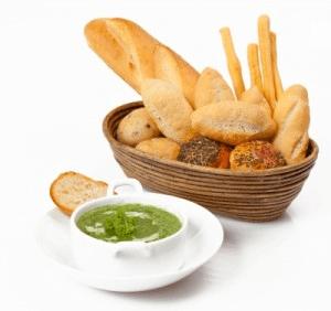 pan en la dieta diaria