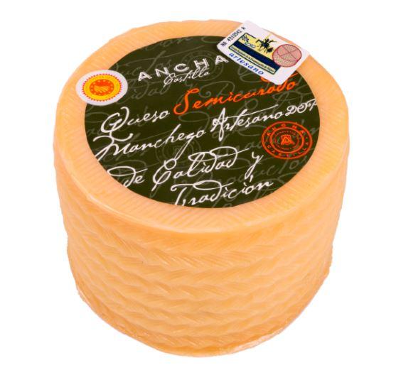 queso manchego semicurado - ANCHA CASTILLA
